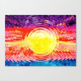 Purple, red, blue and orange sunset Canvas Print