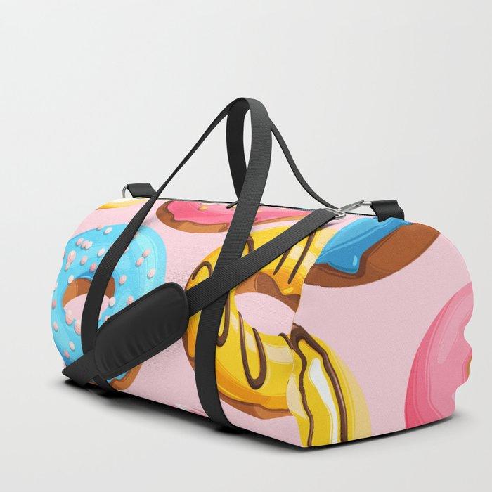 Donuts Pink Modern Decor Contemporary Modern Décor Duffle Bag