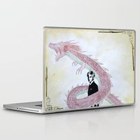 kpop Laptop & iPad Skins featuring Dragon Spirit by Ahri Tao