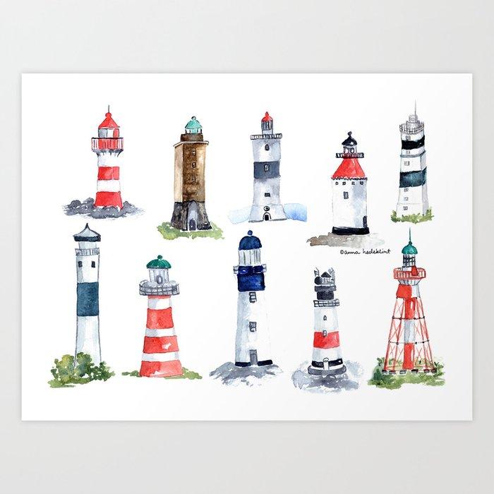Swedish lighthouses Kunstdrucke