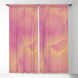 Watercolor texture - dusty pink Blackout Curtain