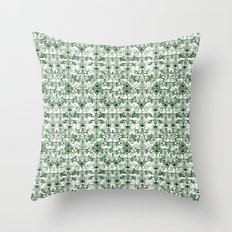 Green Pattern Throw Pillow