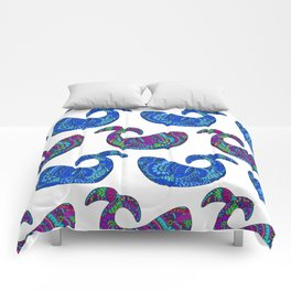 Colorful Whales Comforters