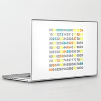 numbers Laptop & iPad Skins featuring Numbers by Andrew Reid