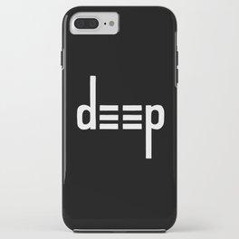 DEEP - Ambigram series (Black) iPhone Case