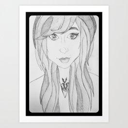 Pretty Girl. Art Print