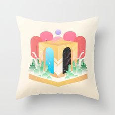 Temple of Time  Throw Pillow