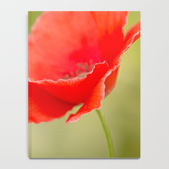 Miss you so much Red Poppy #decor #society6 Notebook