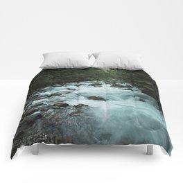 Pacific Northwest River II - Nature Photography Comforters