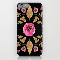 FLOWER COLLAGE N2 BLACK BACKGROUND iPhone 6s Slim Case