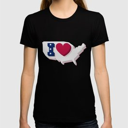 Happy 4th of July! Happy Independence Day!I love USA! T-shirt
