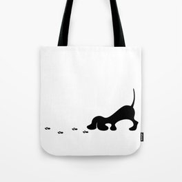 puppy tracking  trail Tote Bag
