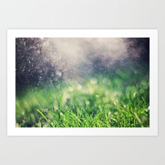 Showers Art Print