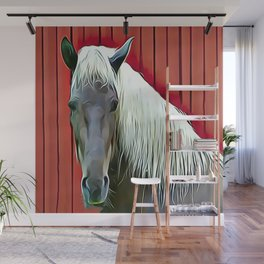 Icelandic Palomino Horse Wall Mural