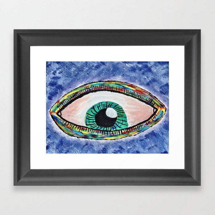 Technicolor Eye Framed Art Print