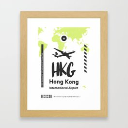 HKG HONG KONG airport Framed Art Print