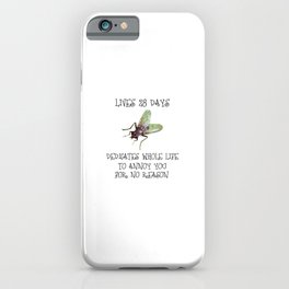 Dedicates whole life to annoy you iPhone Case