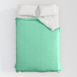 Solid Bright Aquamarine Aqua Blue Green Color Comforters