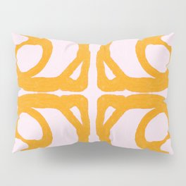 Abstract in Yellow and Cream Pillow Sham