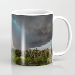 The Bridge - Intense Storm Over River Landscape in Texas Coffee Mug