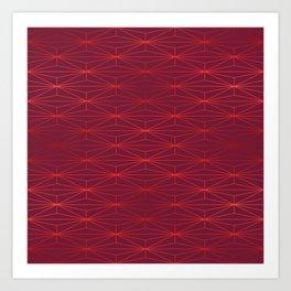 ELEGANT BEED RED TANGERINE PATTERN v3 Art Print