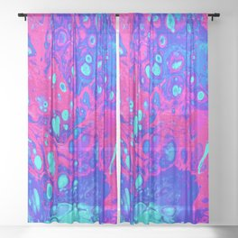 Psychodelic Dream Sheer Curtain