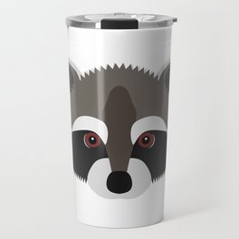 Raccoon Face Travel Mug