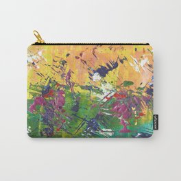 orange and green abstract Carry-All Pouch