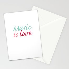 Music is Love Stationery Cards