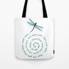 Witches rule of Three and dragonfly Tote Bag