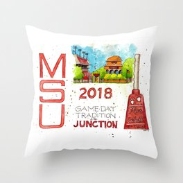 2018 MSU Game Day - The Junction Throw Pillow