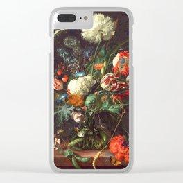 Vase of Flowers II - de Heem Clear iPhone Case