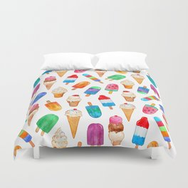 Summer Pops and Ice Cream Dreams Duvet Cover