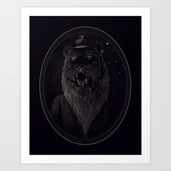 Call of the Wild Night Art Print