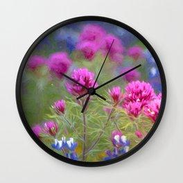 California Wildflowers natural pattern 2 Wall Clock