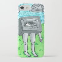 technology iPhone & iPod Cases featuring Technology life by Diane McGregor Art