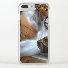 Coal Mining Wagon Wheel in waterfall Clear iPhone Case