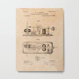 EDISON PATENTS / 03 - Electrical Signaling Apparatus Metal Print