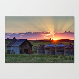 Home Town Sunset Canvas Print