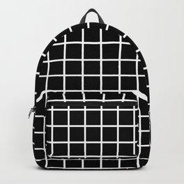 Forget Me Knot Grid Black Backpack