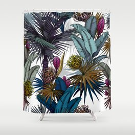 Colorful tropical floral pattern Shower Curtain