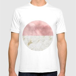 Scandinavian Circles | Pink and Marble T-shirt