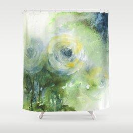 Blue Apatite Roses Shower Curtain