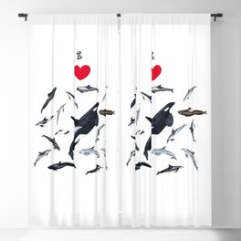 I love dolphins Blackout Curtain