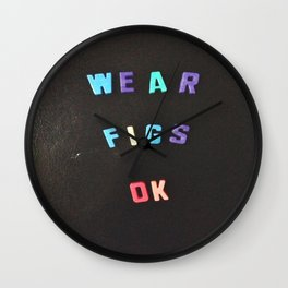 Wear Figs OK Wall Clock