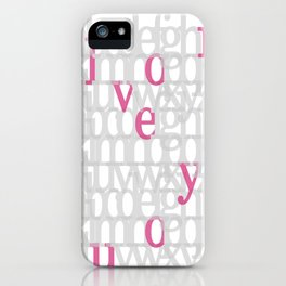 The ABC of i love you. In Pink iPhone Case