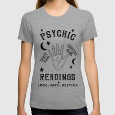 Psychic Readings Fortune Teller Art SMALL Womens Fitted Tee Tri-Grey