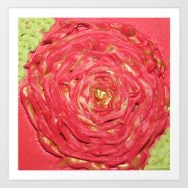 Swirling Rose Art Print