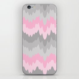 Pink Grey Gray Ombre Chevron Camo  iPhone Skin