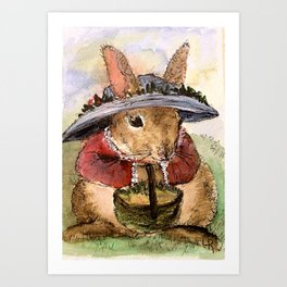 Bunny Illustration Art Print
